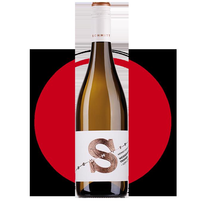 Weingut Schmitt Weißburgunder.